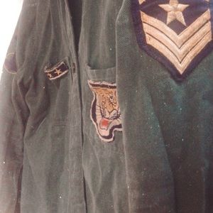Forever 21 Small army jacket with patches